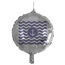 Nautical Anchor Chevron Balloon