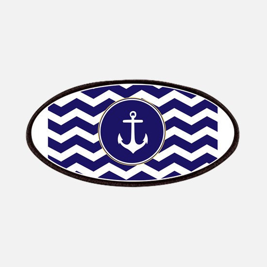 Nautical Anchor Chevron Patches