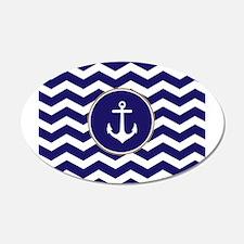 Nautical Anchor Chevron Wall Sticker