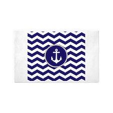 Nautical Anchor Chevron 3'x5' Area Rug