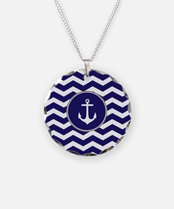 Nautical Anchor Chevron Necklace