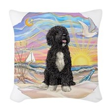 OceanSunrise-PWD5bw.png Woven Throw Pillow