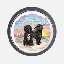 OceanSunrise-TwoBlackPWD.png Wall Clock