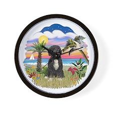 Palms-PWD5bw.png Wall Clock