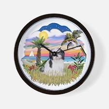 Palms-ShihTzu1.png Wall Clock