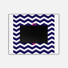Hot pink anchor blue chevron Picture Frame