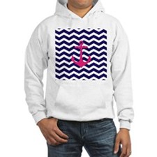 Hot pink anchor blue chevron Jumper Hoody