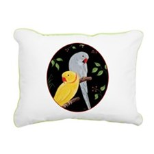 Indian Ringnecks Rectangular Canvas Pillow