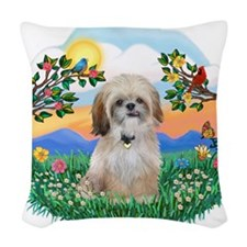 BirghtLife-ShihTzu17r.png Woven Throw Pillow