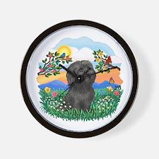 BrighLife-Black Shih Tzu.png Wall Clock