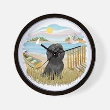 RowBoat-BlackShih Tzu.png Wall Clock