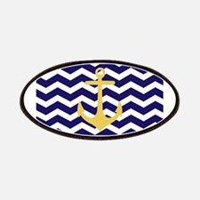 Yellow anchor blue chevron Patches