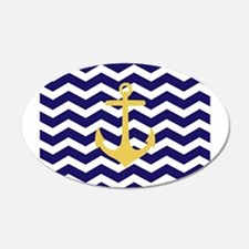 Yellow anchor blue chevron Wall Sticker