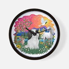 FantasyLand-ShihTzu (BW).png Wall Clock