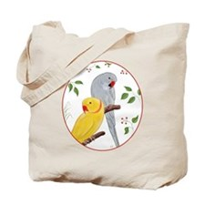 Indian Ringnecks Tote Bag
