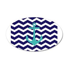 Blue Anchor Chevron Wall Sticker
