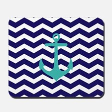 Blue Anchor Chevron Mousepad