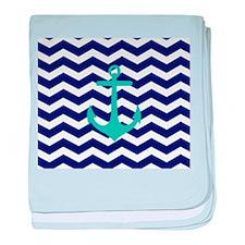 Blue Anchor Chevron baby blanket