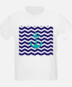 Blue Anchor Chevron T-Shirt
