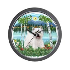Birches-Westie5.png Wall Clock