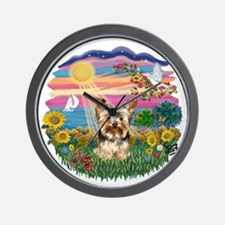 Autumn Sun - Yorkie 17.png Wall Clock