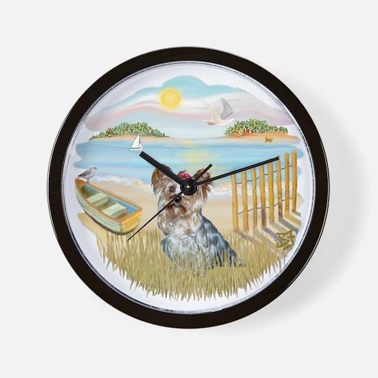 Rowboat - Yorkie 13.png Wall Clock