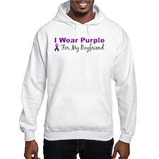 I Wear Purple For My Boyfrien Hoodie