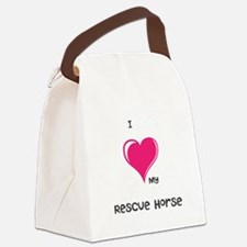 I Love my rescue horse Canvas Lunch Bag