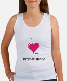 I Love my rescue horse Tank Top