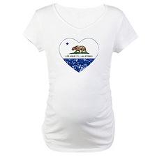 california flag los angeles heart blue distressed