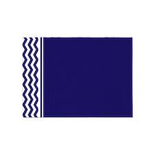 Navy Blue Chevron 5'x7'Area Rug