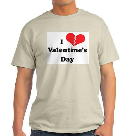 I Hate Valentine's Day Ash Grey T-Shirt