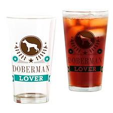 Doberman Dog Lover Drinking Glass