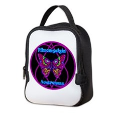 Mod Butterfly Hope-A-Gram Neoprene Lunch Bag