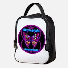Mod Butterfly Hope-A-Gram Neoprene Lunch Bag