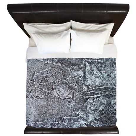 Concrete Abstract King Duvet By Kiniart