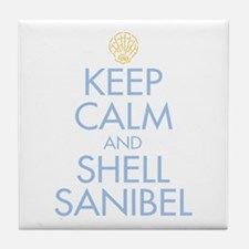 Keep Calm and Shell - Tile Coaster
