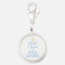 Keep Calm and Shell - Silver Round Charm