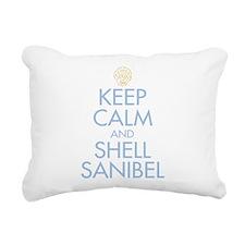 Keep Calm and Shell - Rectangular Canvas Pillow
