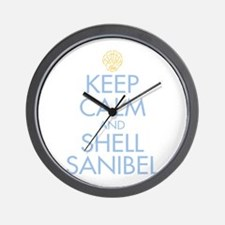 Keep Calm and Shell - Wall Clock