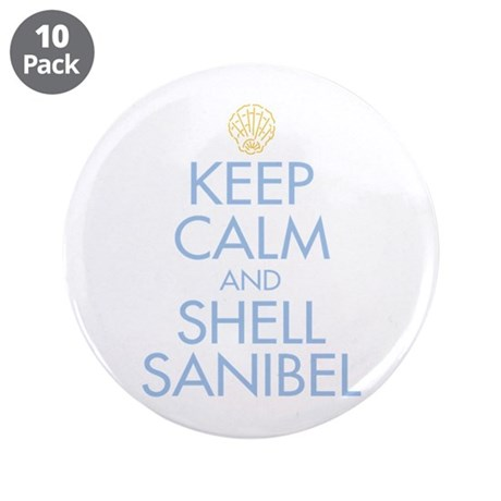 """Keep Calm and Shell - 3.5"""" Button (10 pack)"""