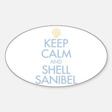 Keep Calm and Shell - Sticker (Oval)