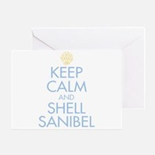 Keep Calm and Shell - Greeting Card