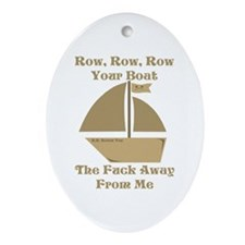 Row your Boat Ornament (Oval)