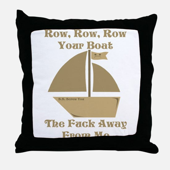 Row your Boat Throw Pillow