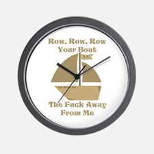 Row your Boat Wall Clock