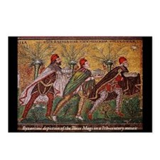 The Three Magi - A Byzantine mosaic Postcards (Pac