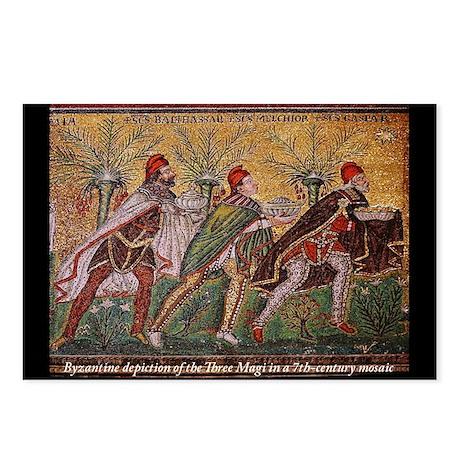 The Three Magi - A Byzantine mosaic Postcards (Pac