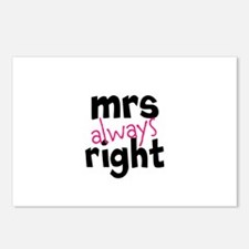 Mrs Always Right part of mr and mrs set Postcards