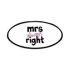 Mrs Always Right part of mr and mrs set Patches